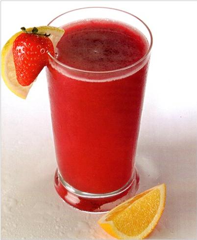 Рецепты фруктовых коктейлей - клубничный коктейль