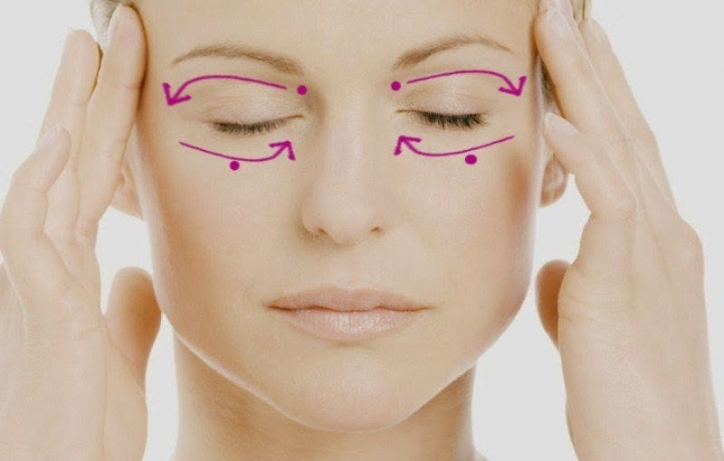 Массаж лица и области вокруг глаз