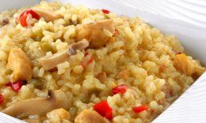 Сбалансированный ужин: коричневый рис с овощами