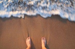 ноги-пляж
