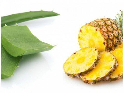 Диета на основе ананаса и алоэ вера