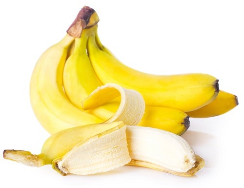 fresh bananas isolated on white background
