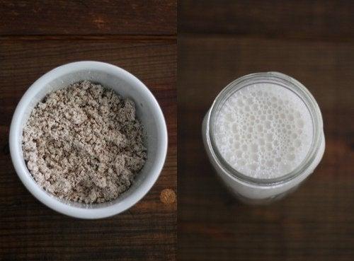 Продукты белого цвета и молоко