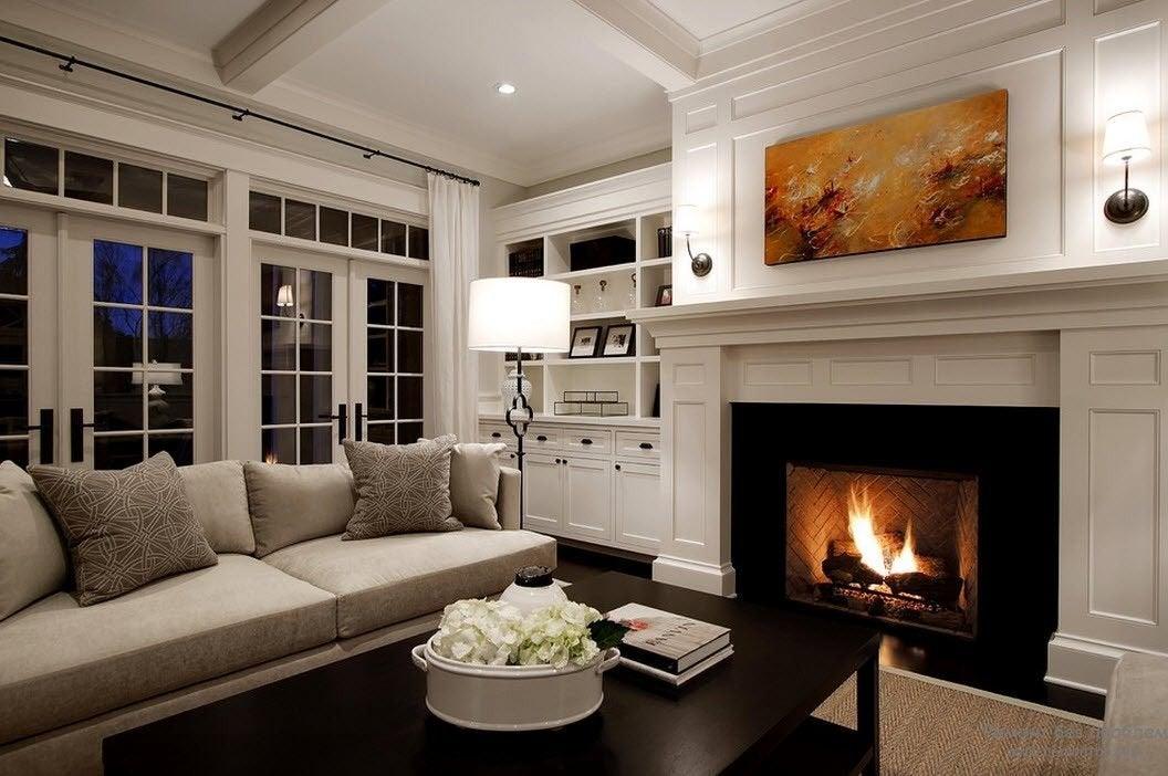 Теплые оттенки стен помогут создать уютную атмосферу в доме