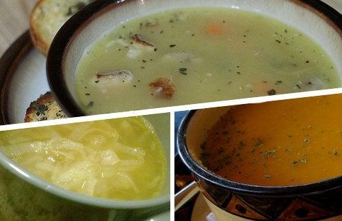 Легкий суп при гриппе