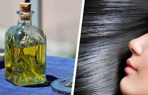 Масло розмарина для мягкости волос и глубокого темного цвета