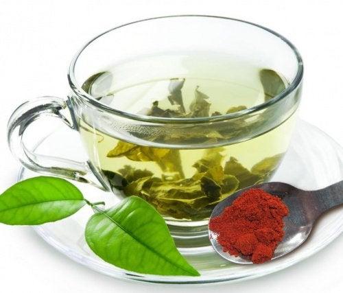 Зеленый чай сжигает жир