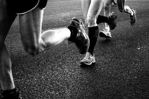 Бег и пальцы ног