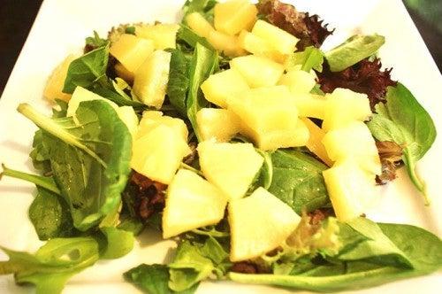 Салат из шпината  и омоложение волос