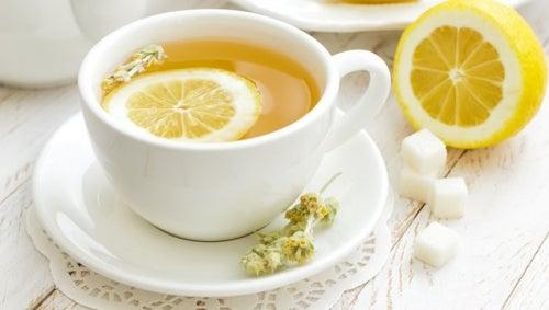 Чай из цедры лимона