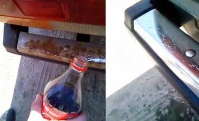 Кока-кола удаляет ржавчину