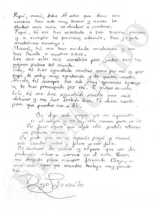Письмо Диего