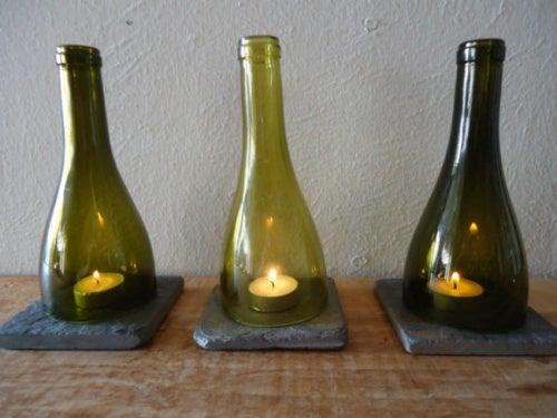 Стеклянные бутылки можно использовать повторно