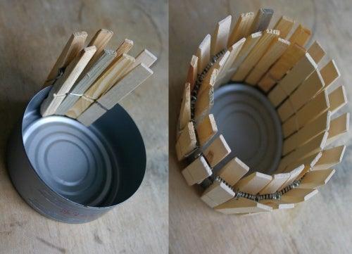 Горшочки из консервных банок