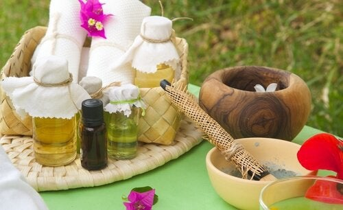 Лечебное средство из масел для роста волос