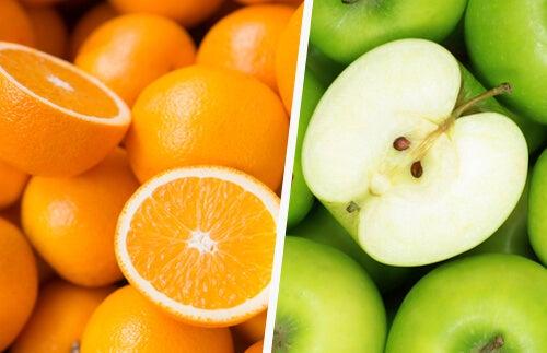 Яблоко и апельсин
