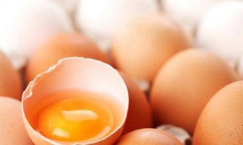 Яйца белок и желток
