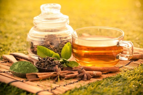 Зеленый чай с пряностями