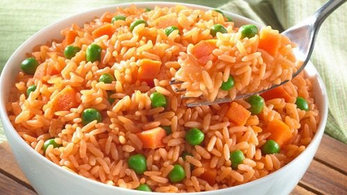 Растительный белок в красном рисе