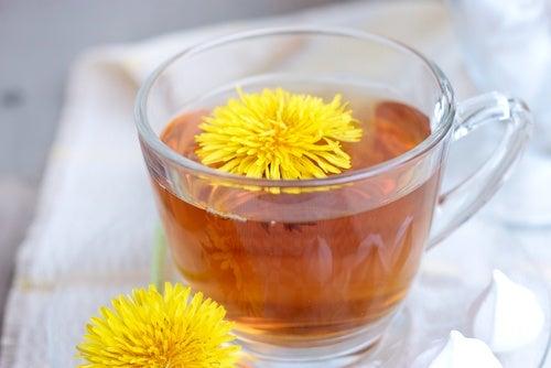 Одуванчик и чай с одуванчиком