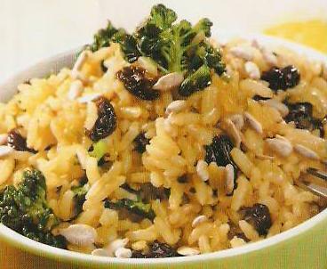 Рис брокколи и куркума