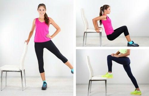 Поддерживай форму с помощью стула