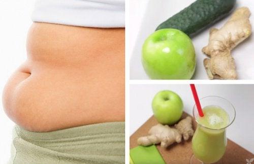 Сок из яблока огурца и имбиря поможет потерять вес