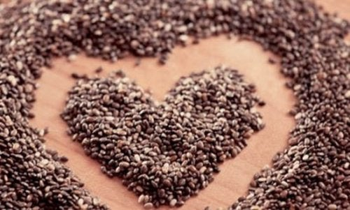 Семена чиа содержат клетчатку