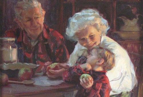 Забота о внуках помогает предотвратить слабоумие!