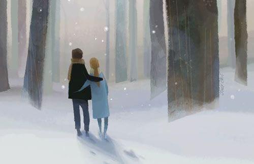 Прогуливающаяся пара и простота в жизни