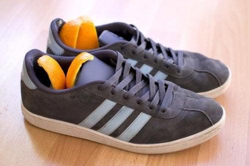 Обувь и цедра цитрусовых