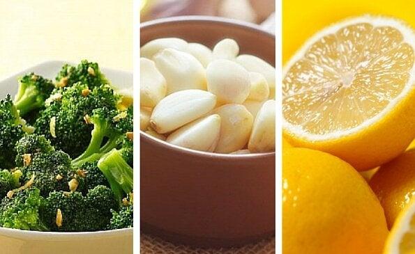 Брокколи с чесноком и лимоном