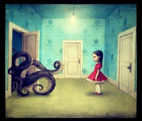 Девочка и осьминог