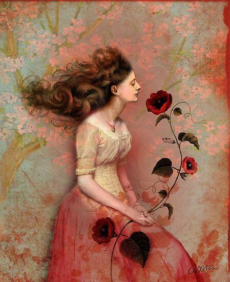 Женщина с розой и счастье