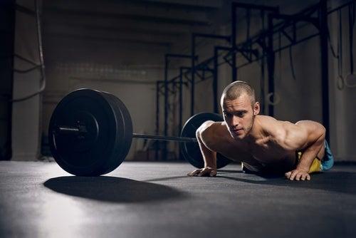 Приседания с отжиманиями и упражнения