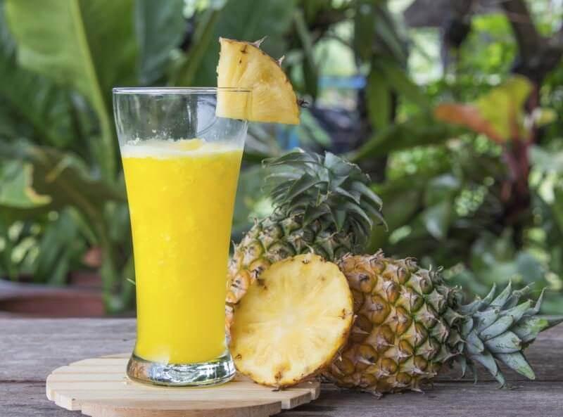 Ананасовый сок и раздражение кожи рук