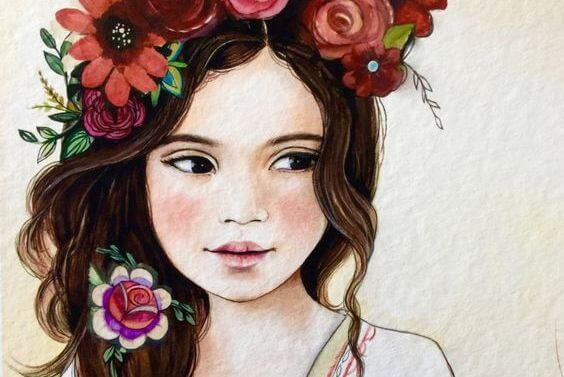 Девочка в венке