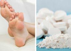 Аспирин помогает бороться с огрубением кожи на ногах