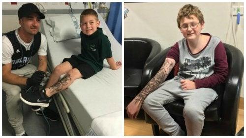 Человек, который делает «временные татуировки» больным детям, придавая им силы