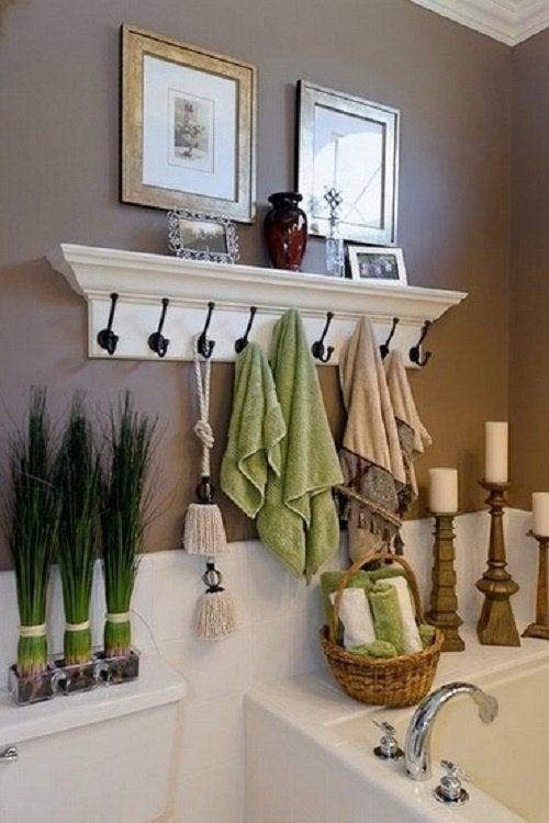 Ванная комната и держатель для полотенец