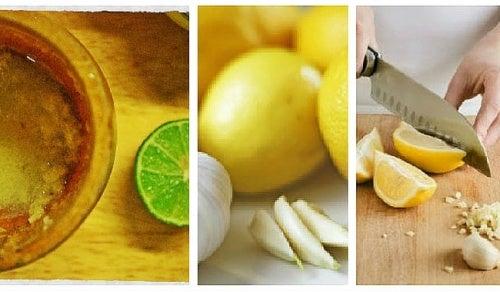 Домашнее средство из чеснока и лимона для борьбы с жиром на животе