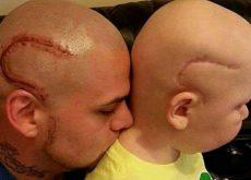 Отец с сыном больным раком и тату