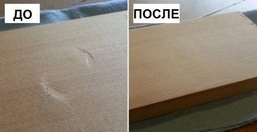 Как удалить вмятины на деревянных поверхностях за 30 секунд?