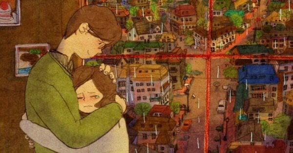 Мужчина и плачущая женщина