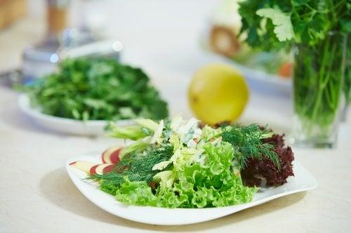 Зеленый салат и морозилка