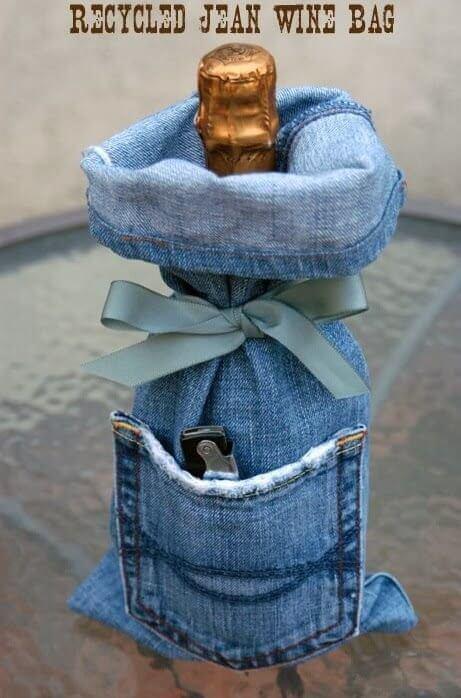 Украшение для бутылок и джинсы