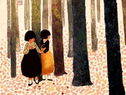 Братья и сестры в лесу