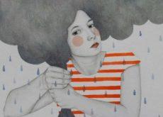 Женщина у которой шторм и разногласия в голове