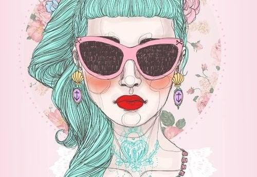 Женщина в очках и жизнь