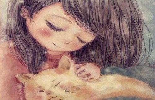 Девочка с котенком и эмоциональный интеллект